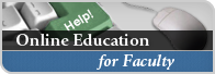 Online Education for Faculty