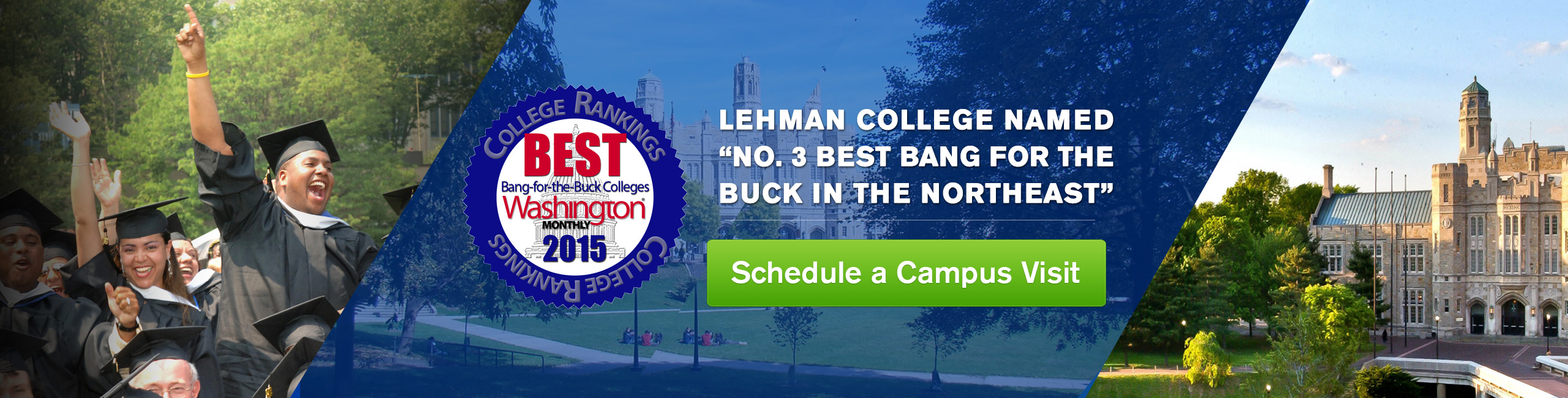 Lehman College Honored: #3 Best Bang for the Buck in the Northeast