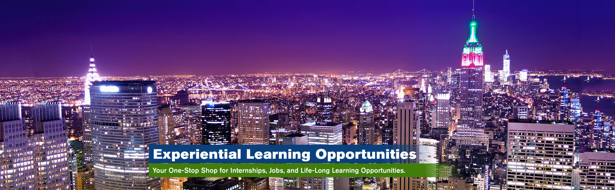 Experiential Learning Opportunities at Lehman & CUNY