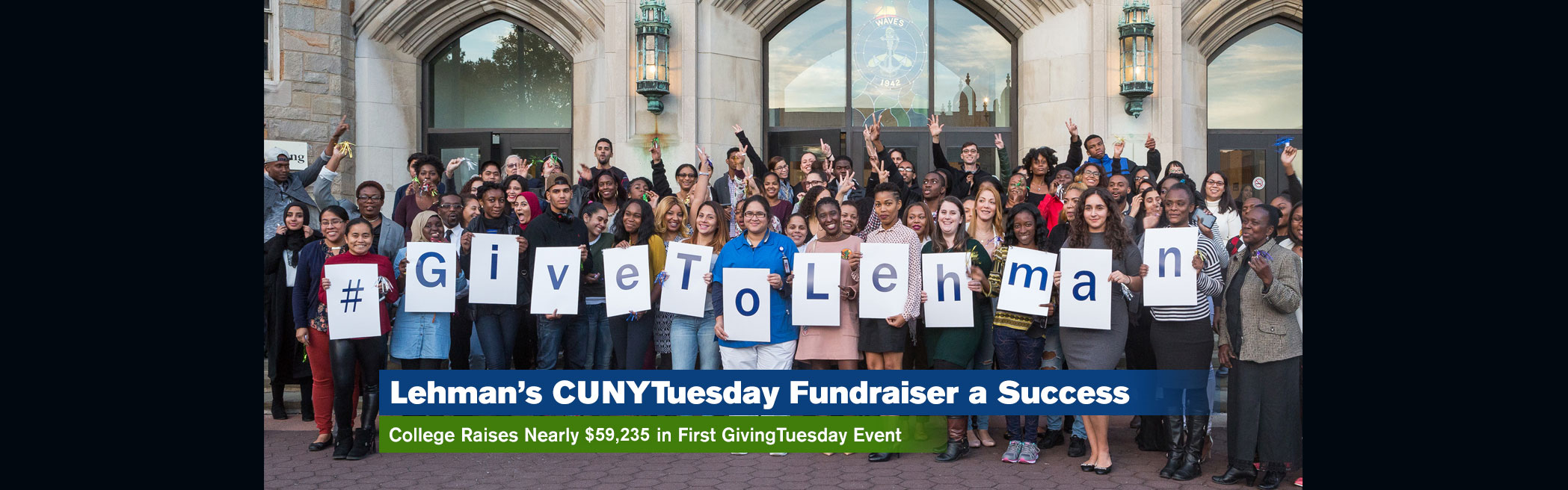 Lehman Raises Nearly $37,000 in First #CUNYTuesday Fundraiser
