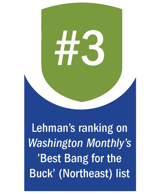 Lehman Named #3 'Best Bang for the Buck' in the Northeast by Washington Monthly
