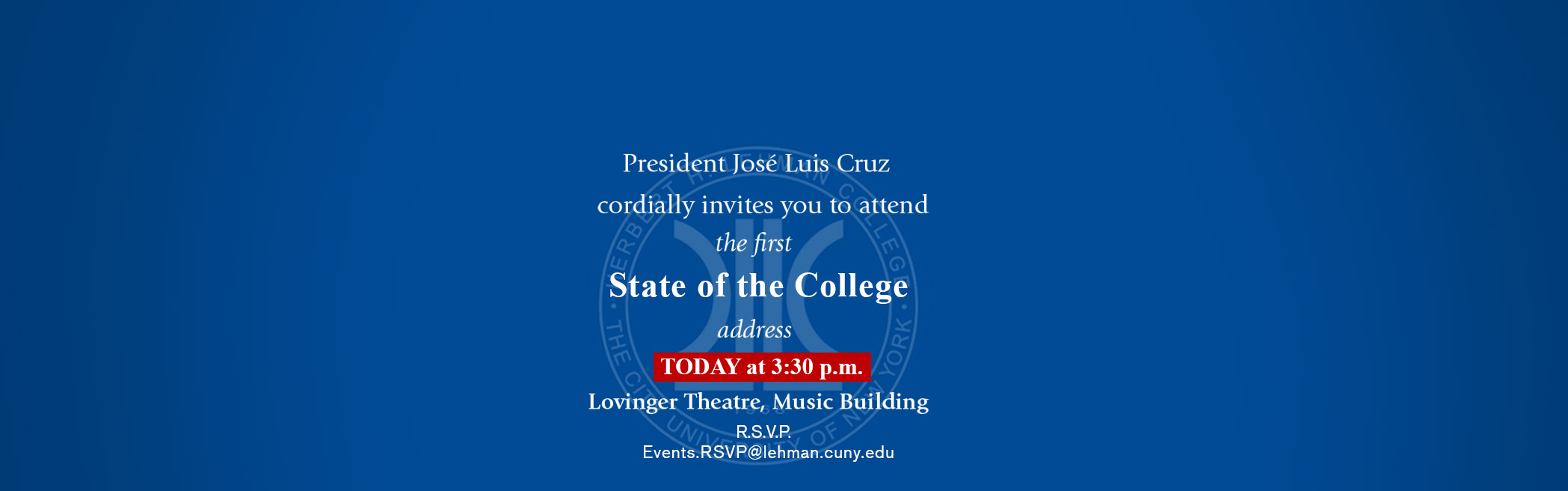 President José Luis Cruz State of the College Address