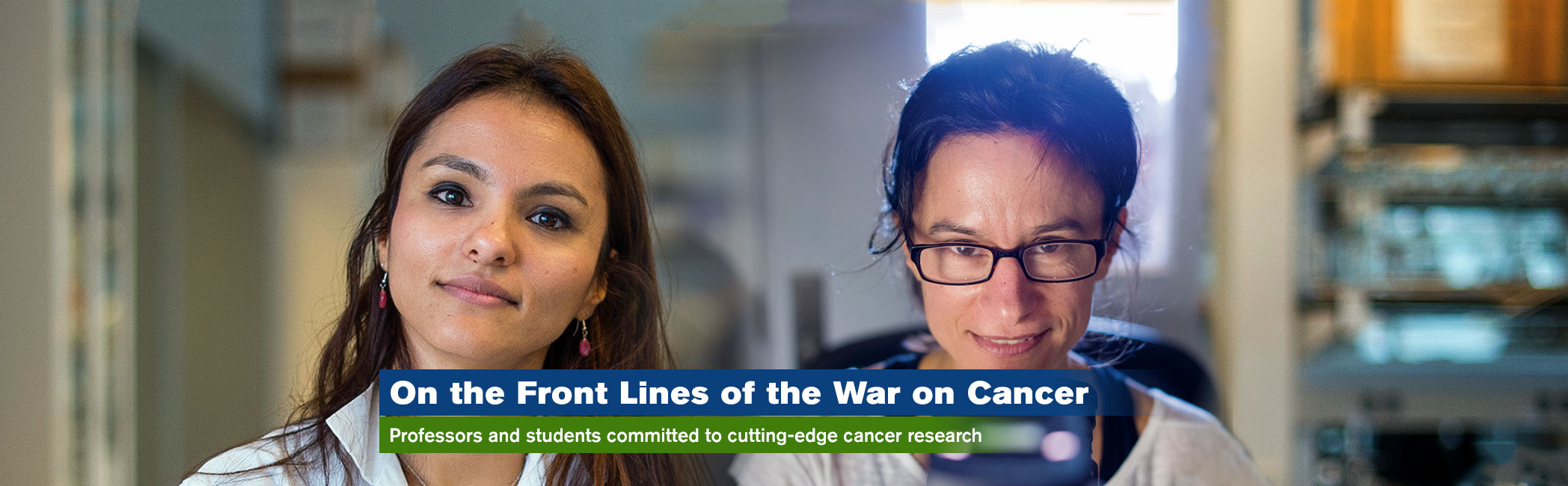 Lehman professors on the front lines of the war on cancer banner image