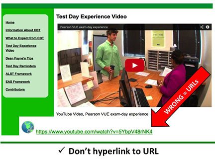 Don't hyperlink to URL