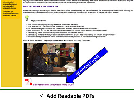 Add Readable PDFs
