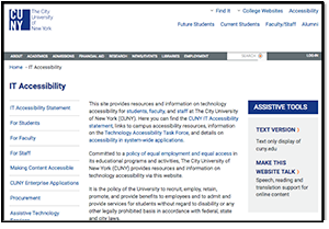 Image of CUNY IT Accessibility