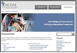 Image of NCDAE: National Center on Disability and Access to Education