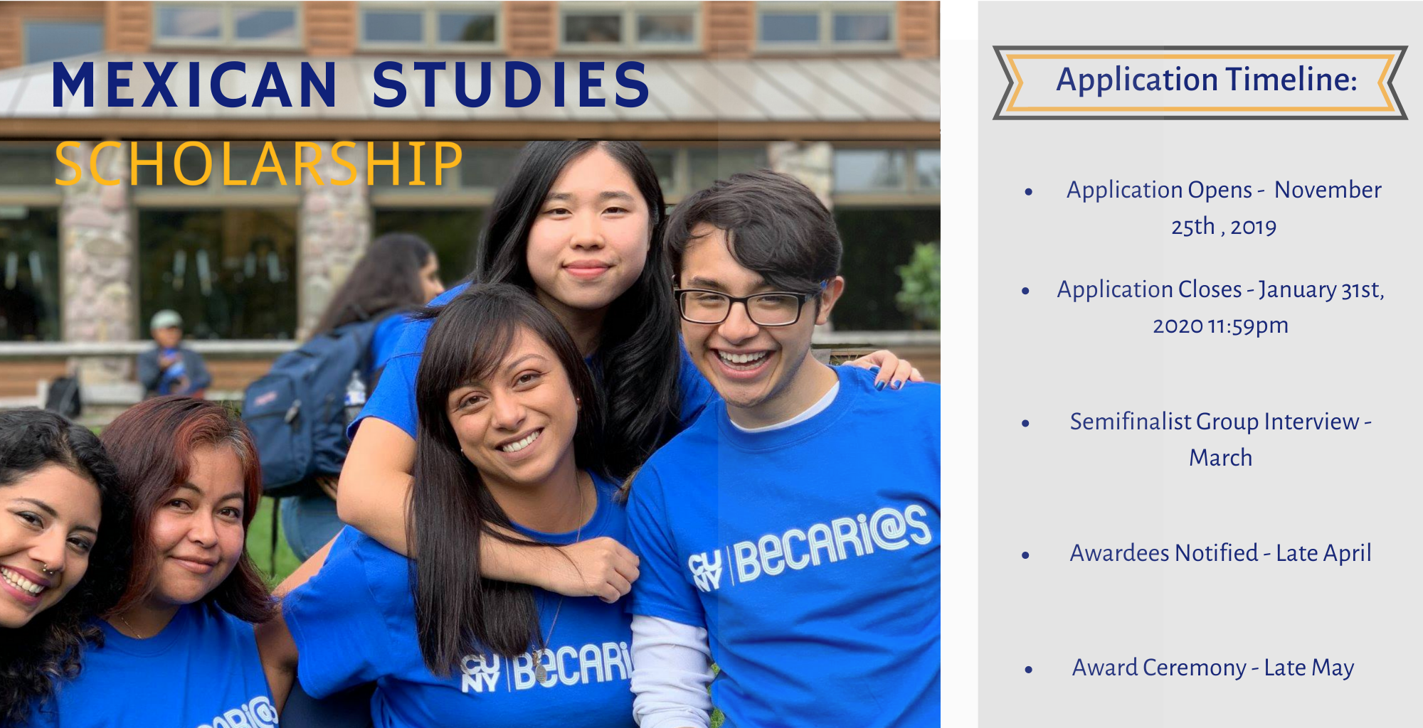 CUNY Mexican Studies Institute: CUNY BECAS Scholarship Program