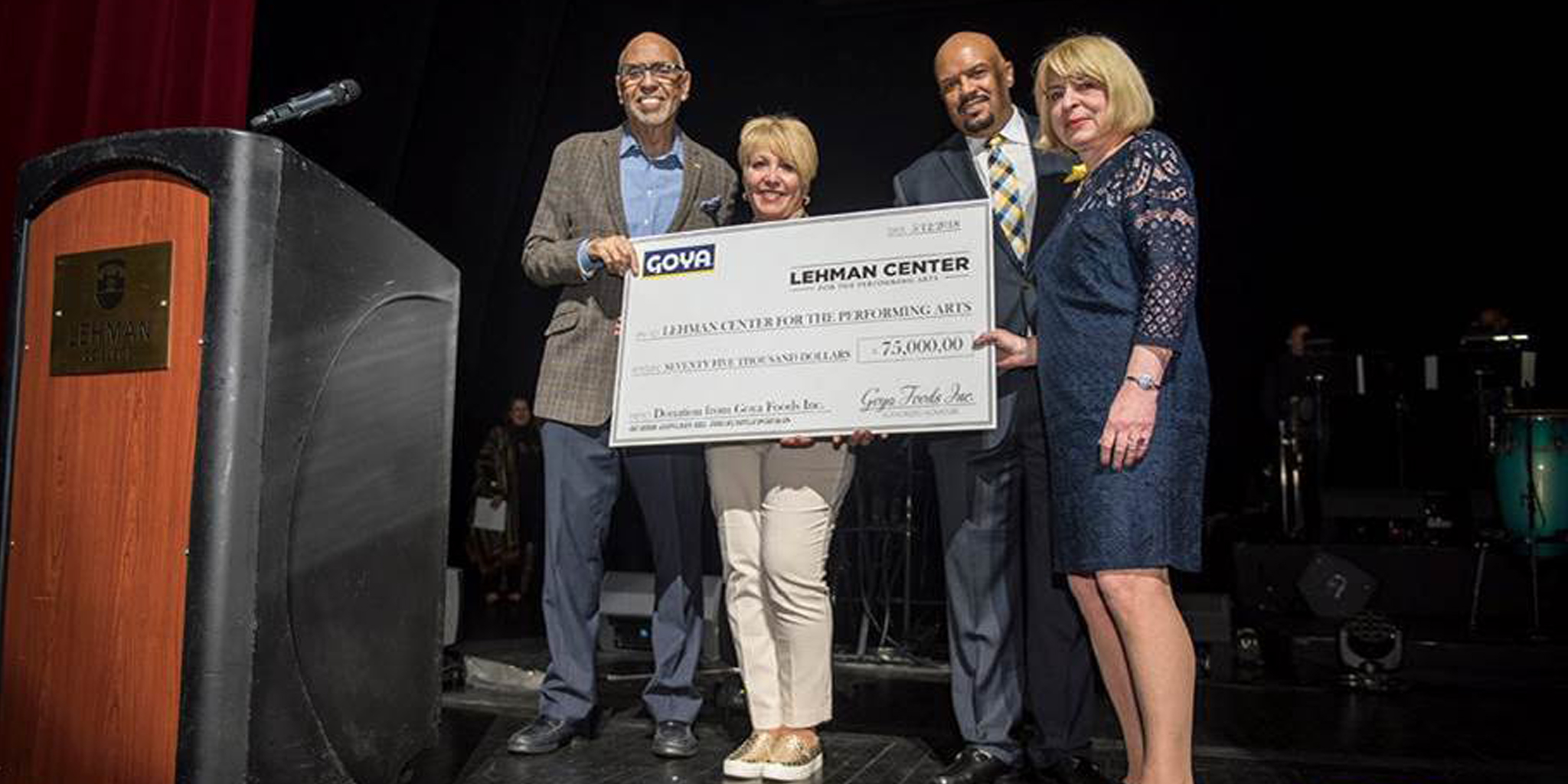 Goya Foods Announces Support of Lehman Center for the Performing Arts and Campus Food Bank