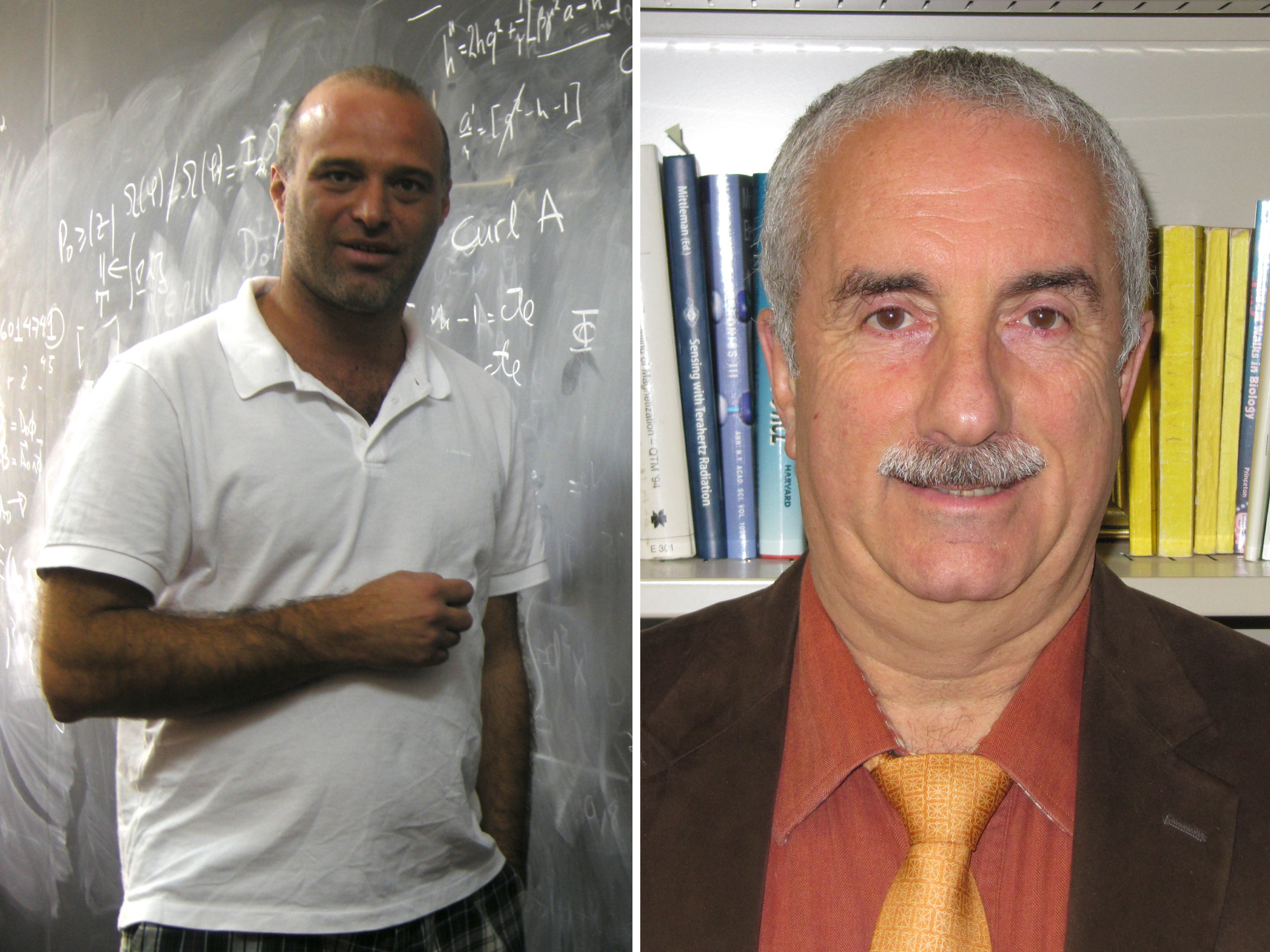Luis Anchordoqui (left) and Eugene Chudnovsky (right)